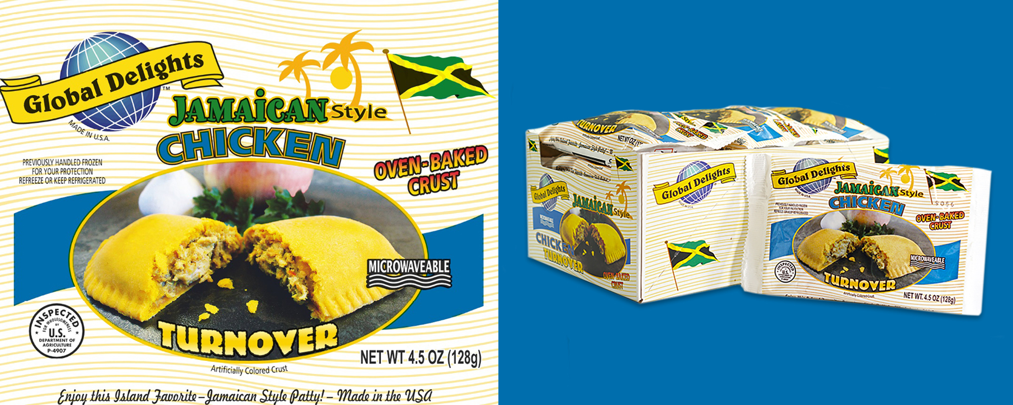 Jamaican Style Chicken Turnover - Caribbean Products