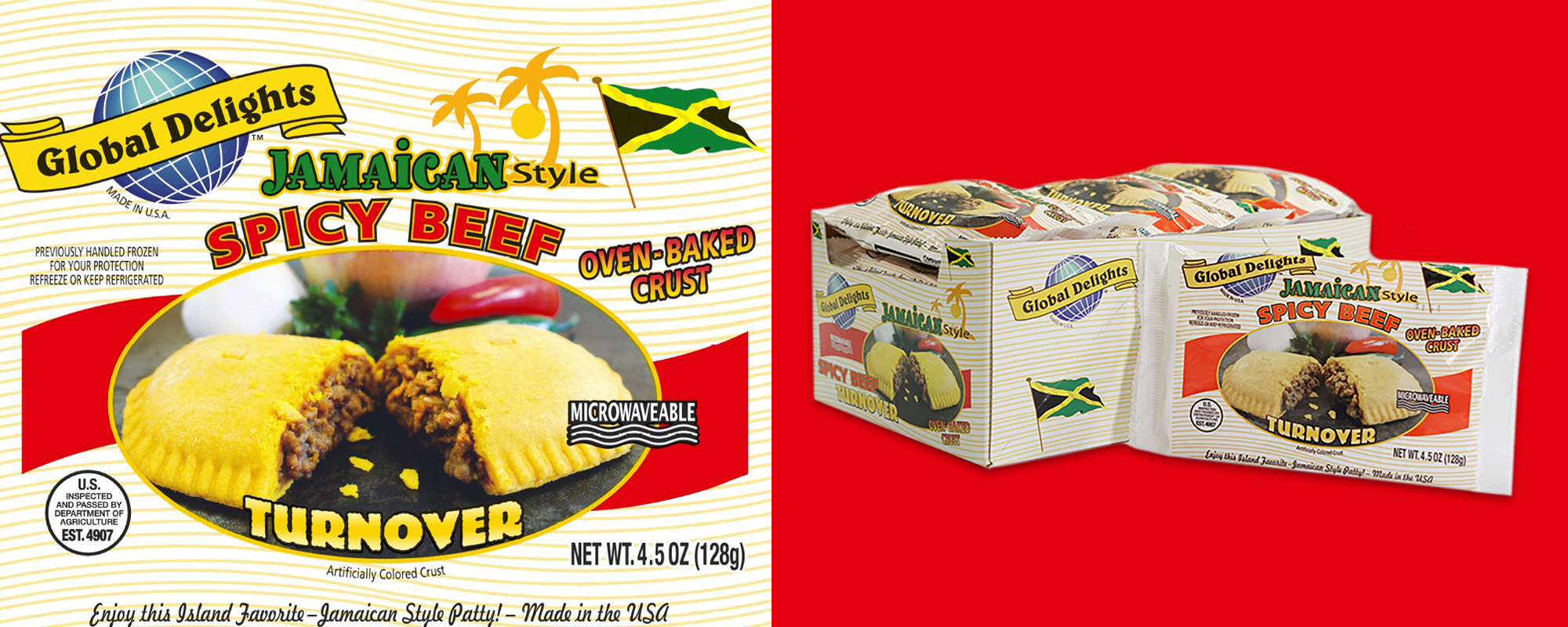 Jamaican Style Spicy Beef Turnover - Caribbean Products